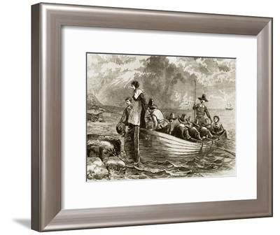 Landing of the Pilgrims at Plymouth Rock, 1620--Framed Giclee Print