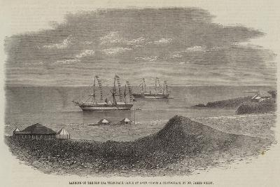 Landing of the Red Sea Telegraph Cable at Aden--Giclee Print