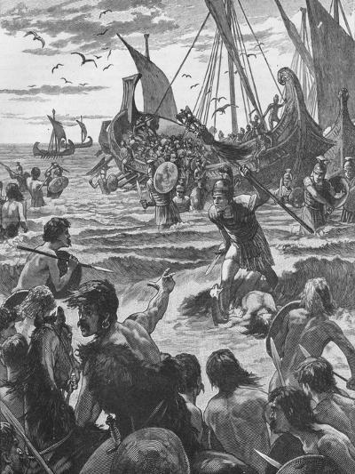 Landing of the Romans on the Coast of Kent, 43--Giclee Print