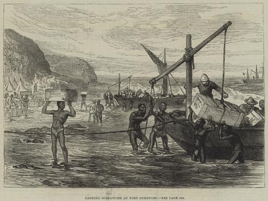 Landing Operations at Port Durnford--Giclee Print
