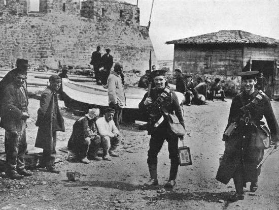 'Landing party of marines during the early part of operations against the Dardanelles', 1915-Unknown-Photographic Print