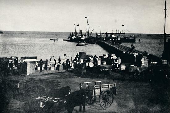 'Landing Place, Punta Arenas', 1911-Unknown-Photographic Print
