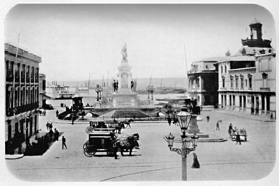 'Landing Stage at Valparaiso', 1911-Unknown-Photographic Print