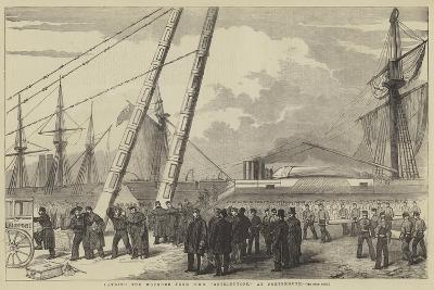 Landing the Wounded from HMS Retribution, at Portsmouth--Giclee Print