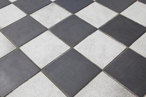 Black And White Tiled Floor by landio