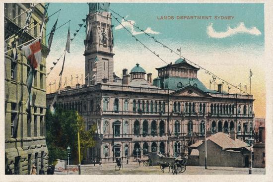 'Lands Department Sydney', c1910-Unknown-Giclee Print