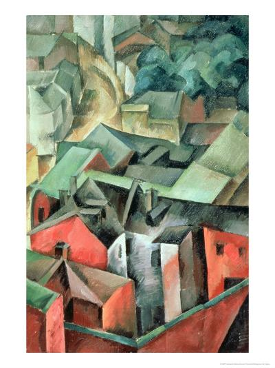 Landscape, 1917-Aleksandr Aleksandrovich Osmerkin-Giclee Print