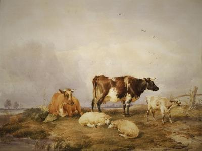 Landscape and Cattle, C1823-1902-Thomas Sidney Cooper-Giclee Print