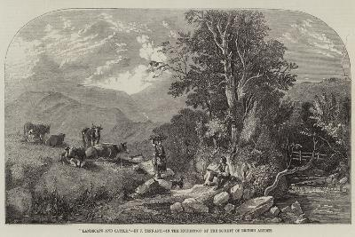 Landscape and Cattle-John F^ Tennant-Giclee Print