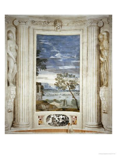 Landscape and Dog-Paolo Veronese-Giclee Print