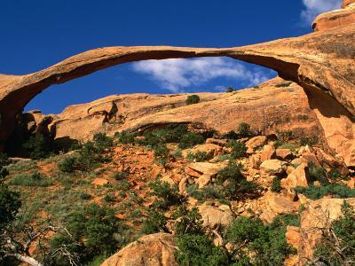 Landscape Arch, Arches National Park, Utah, USA-Carol Polich-Photographic Print