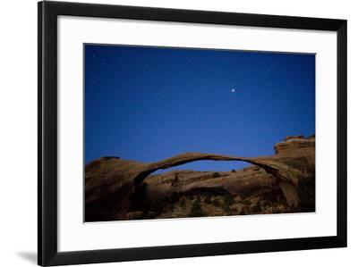 Landscape Arch Under The Stars-Lindsay Daniels-Framed Photographic Print