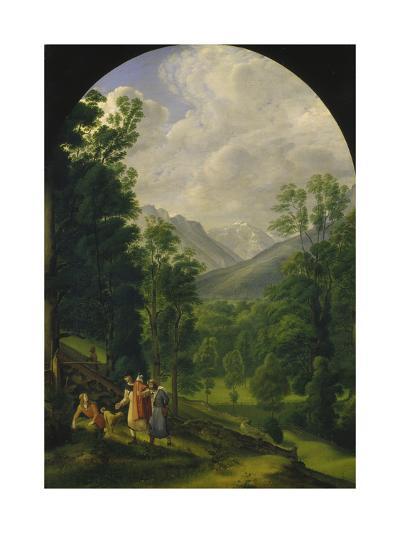 Landscape around Berchtesgaden, 1817-Ferdinand Olivier-Giclee Print