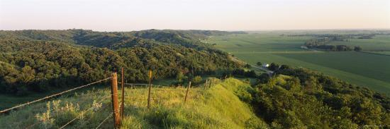 Landscape at a Hillside, Loess Hills, Iowa, USA--Photographic Print
