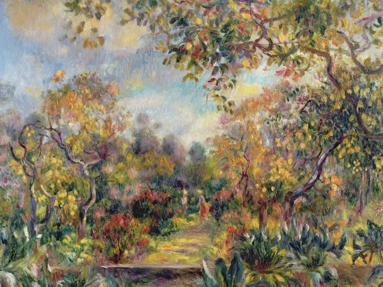 Landscape at Beaulieu, c.1893-Pierre-Auguste Renoir-Giclee Print