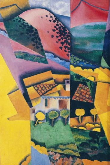 Landscape at Ceret, 1913-Juan Gris-Giclee Print