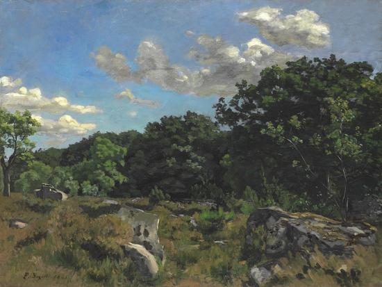 Landscape at Chailly, 1865-Jean Frederic Bazille-Giclee Print