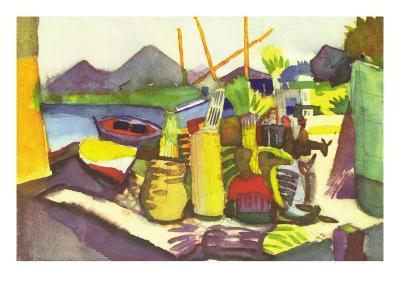 Landscape At Hammamet-Auguste Macke-Art Print