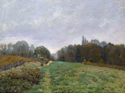 Landscape at Louveciennes, 1873-Alfred Sisley-Giclee Print