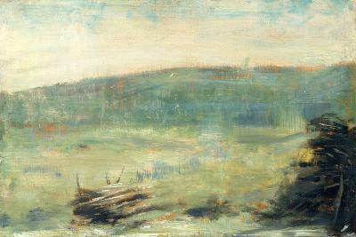 Landscape at Saint-Ouen-Georges Seurat-Art Print