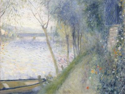 Landscape at the Edge of the Seine with the Pont D'Argenteuil-Pierre-Auguste Renoir-Giclee Print