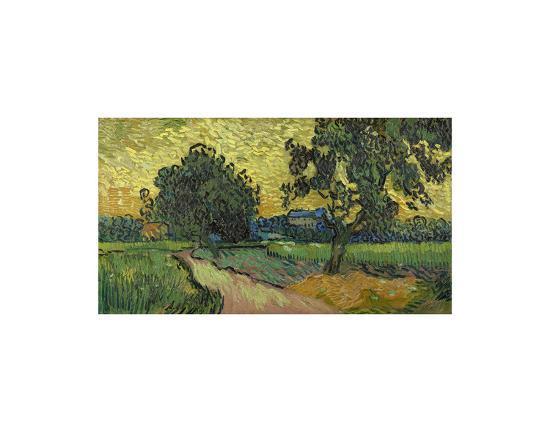 Landscape at Twilight, 1890-Vincent van Gogh-Art Print