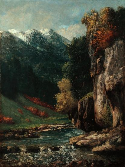 Landscape, C.1874-77-Gustave Courbet-Giclee Print