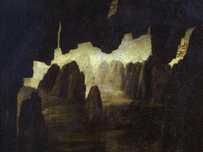 Landscape, from the Virgin of the Rocks, 1483-86, Top Left Hand Detail-Leonardo da Vinci-Giclee Print