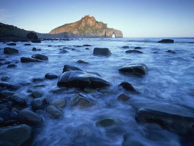 Landscape Gaztelugatxe Coast, Basque Country, Bay of Biscay, Spain, October 2008-Popp-Hackner-Photographic Print