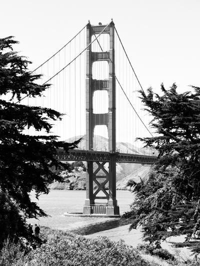 Landscape, Golden Bridge, Black and White Photography, San Francisco, California, United States-Philippe Hugonnard-Photographic Print