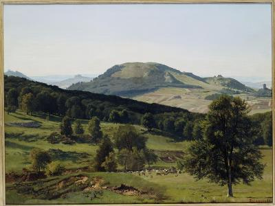 Landscape - Hill and Dale-Albert Bierstadt-Giclee Print