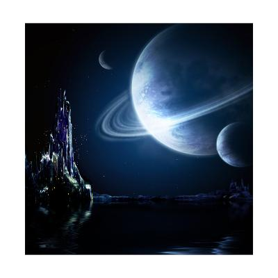 Landscape In Fantasy Planet-frenta-Art Print