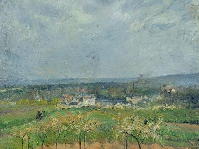 Landscape in Pontoise, 1877-Camille Pissarro-Giclee Print