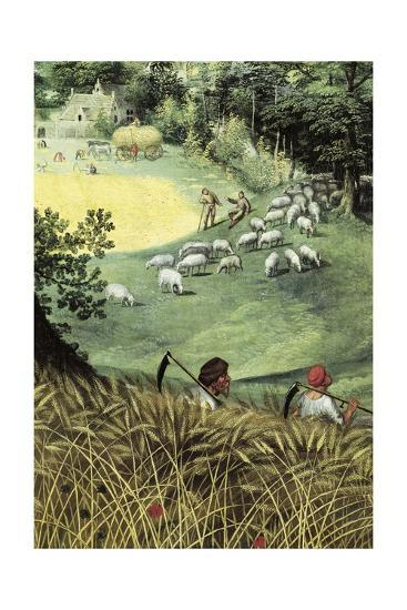 Landscape in Summer-Lucas van Valkenborch-Giclee Print