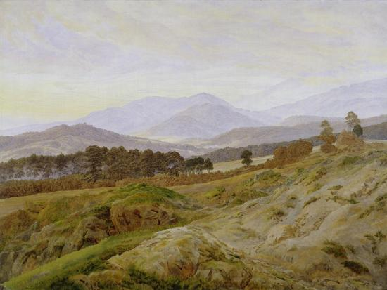 Landscape in the Riesengebirge (Bohemian Landscape), about 1835, Unfinished-Caspar David Friedrich-Giclee Print