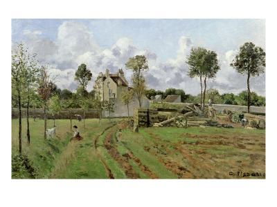 Landscape, Louveciennes, c.1872-Camille Pissarro-Giclee Print