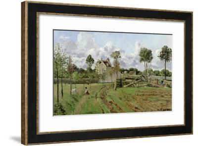 Landscape, Louveciennes, c.1872-Camille Pissarro-Framed Giclee Print