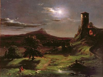 Landscape (Moonlight), C.1833-34-Thomas Cole-Giclee Print