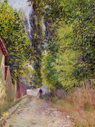 Landscape Near Louveciennes, 1876-Alfred Sisley-Giclee Print