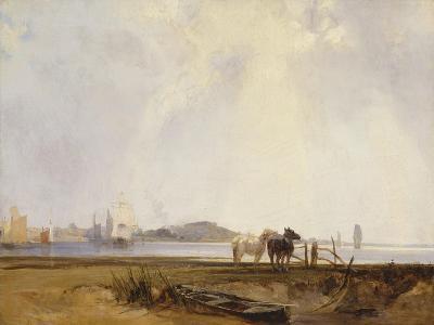Landscape Near Quillebeuf, France, C.1824-25-Richard Parkes Bonington-Giclee Print