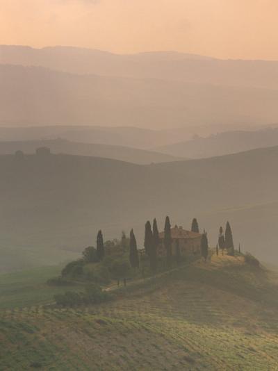 Landscape Near San Quirico D'Orcia, Tuscany, Italy, Europe-Patrick Dieudonne-Photographic Print
