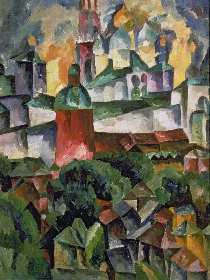 Landscape Near Troize-Sergiev, 1920-Aristarkh Vasilievic Lentulov-Giclee Print