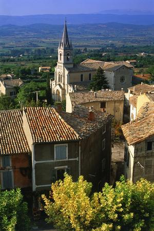 Landscape of Bonnieux, Provence, France-Peter Adams-Photographic Print