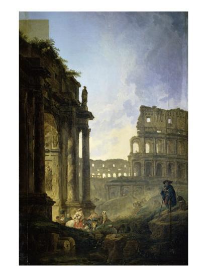 Landscape of Italy-Hubert Robert-Giclee Print