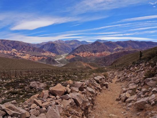 Landscape of surrounding mountains, Tilcara, Jujuy Province, Argentina, South America-Karol Kozlowski-Photographic Print