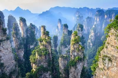Landscape of Zhangjiajie. Taken from Old House Field. Located in Wulingyuan Scenic and Historic Int- aphotostory-Photographic Print