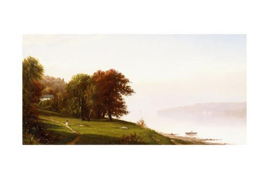 Landscape on the Hudson, C.1865-Alfred Thompson Bricher-Giclee Print