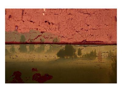 Landscape on Wood II-Irena Orlov-Art Print