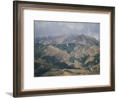 Landscape Showing Stripped Rain Forest in Costa Rica--Framed Photographic Print