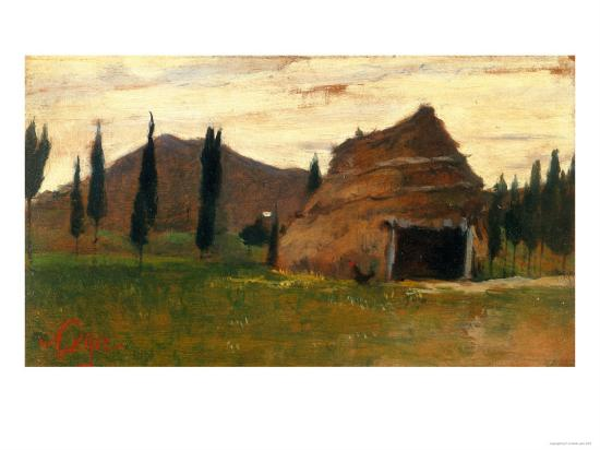 Landscape, Silvestro Lega, National Modern Art Gallery, Florence-Silvestro Lega-Giclee Print